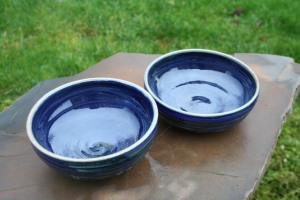 deep blue winter soup bowls
